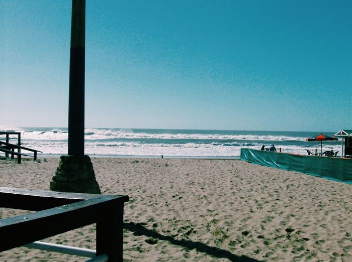 Villa Gesell Argentina Beach Beauty In Nature Clear Sky Day Horizon Over Water No People Outdoors Sand Sea Water