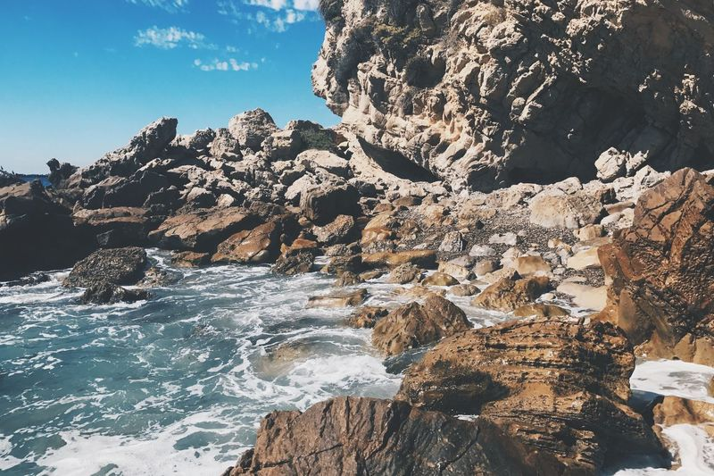 Rock - Object Tranquility Scenics Sea Beauty In Nature No People Ocean Waves Blue Water