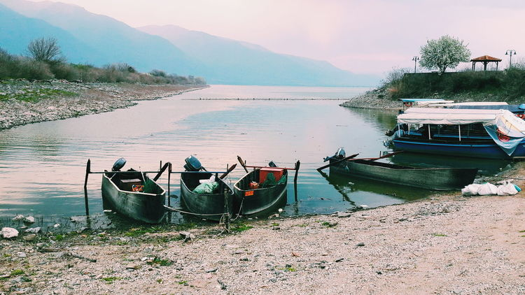 Serenity Water Nature Sky Beauty In Nature Greece Europe Trip Calm Serenity Cloudy Peaceful Lake Grey Blue Clear Mental
