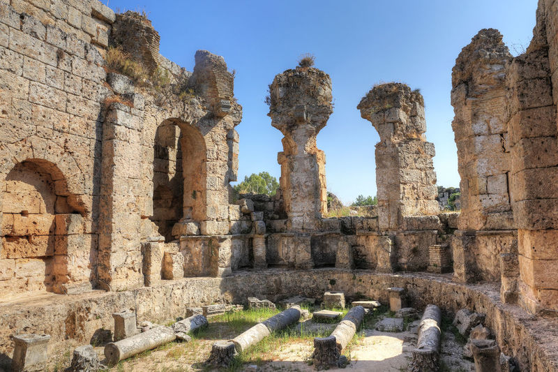 Perge Ancient City in Antalya Perge Ancient Ancient City Antalya Antalya Turkey History The Past Old Ruin Architecture Built Structure Travel Destinations Sky Ancient Civilization Old Ruined Day Archaeology Nature No People Historic Antique Hellenistic  Marble Amphitheater Column