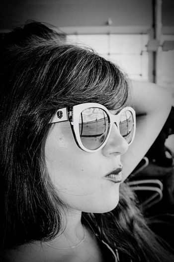 Portrait Eyeglasses  Sunglasses One Person Close-up Human Face Young Women Cool Young Adult Black & White Beautiful Woman One Woman Only