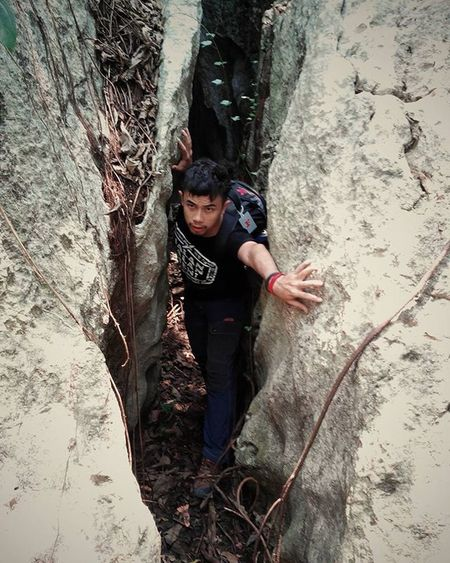 Adventure is in my blood.. No matter how tight, far, or high I'll face it!! Adventure Travel Trip Mountain Hiking Hike INDONESIA Gunung Pendaki Wall Batu