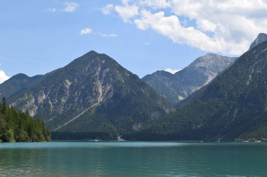 Austria Beauty In Nature Day Forest Idyllic Lake Lake View Landscape Mountain Mountain Range Nature No People Outdoors Scenics Sky Tranquil Scene Travel Destinations Tree Water