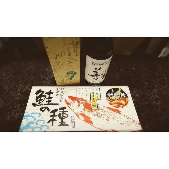 ∴お土産ありがと。 Niigata Okaeri Sakenotane Kakipi Wine Yuya Instagood