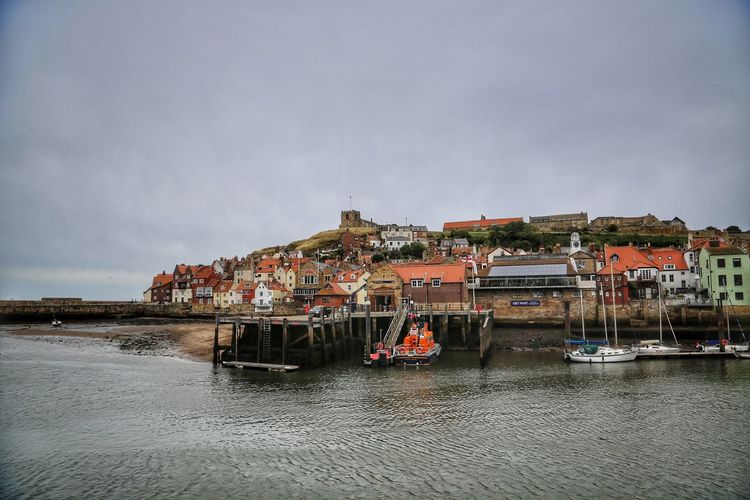 Whitby Whitby Whitby Abbey Water Architecture Sky Built Structure Building Exterior Waterfront Nautical Vessel Cloud - Sky Mode Of Transportation Transportation Building Sea Day Nature Residential District No People City Outdoors House Sailboat Passenger Craft Fishing Industry