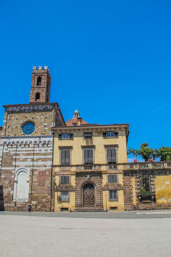 Lucca Lucca Italy Toscana Building Exterior Clear Sky Day Façade Low Angle View No People Outside The Past Tower