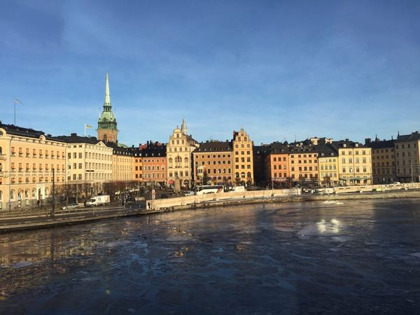 Stockholm from the subway Indoors  No People Buildings Sky Ice Water Frozen Water Frozen City Architecture Day Old Town Gamla Stan Stockholm Sweden Godaminnen
