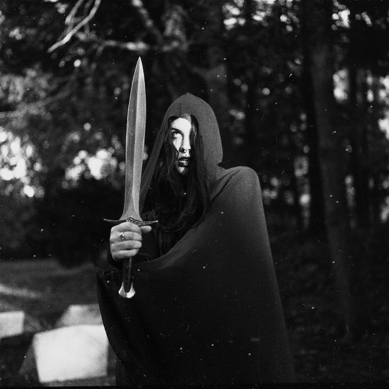 there after Graveyard Cemetery Dark Photography Dark Cloak Sword Dagger Darkart Witch Portrait Film Photography 120 Film Yashica Yashicamat124g Halloween Spooky Spirituality Close-up Horror Ghost