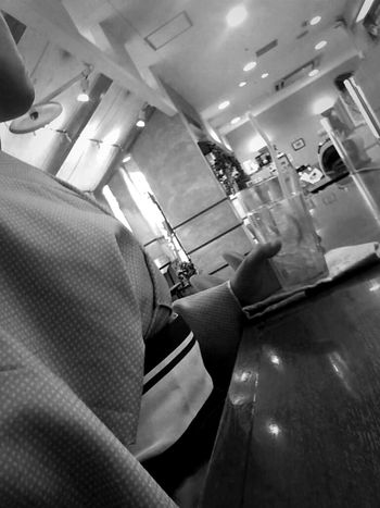 Relaxing Black And White Cafe