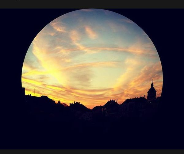 View Trough My Window View From The Window... Beautiful Sky Cloudlovers My Own Planet Clouds Sky Sunset City Silhouette Roofs Landscape Landscapes With WhiteWall Here Belongs To Me Brunswick Germany Braunschweig