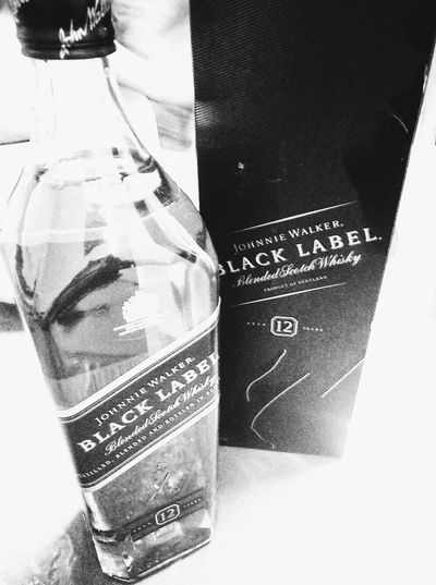 Close-up No People Wine Bottle Wine Moments Blackandwhite Black And White Photography Indoors  Wine And Spirits Wine And Table Taste Of Culture Blacklabel Truelife Only Me Portrait Photography Black And White Collection  Front View Manila, Philippines Philippinesphotography Philippines 2017 Shotforshot Shotoftheday MyOnlyFriend