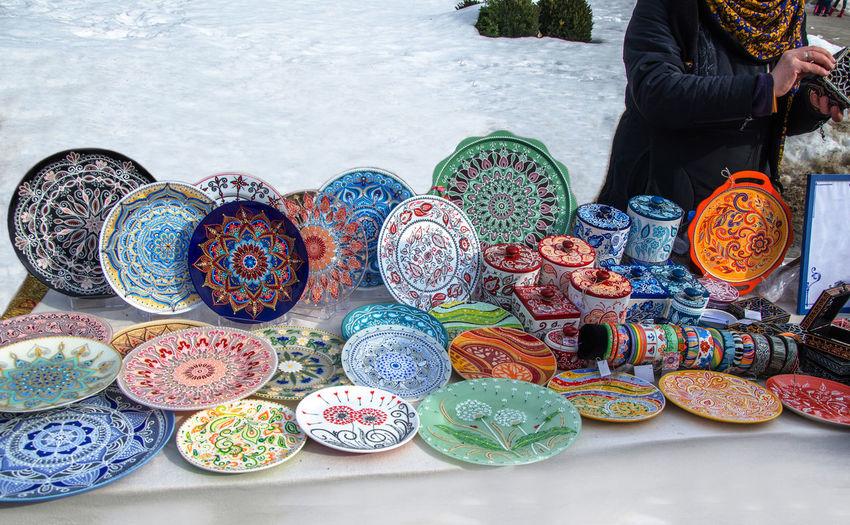 Ceramic plates,