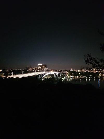 Bridge Cityscape Night Lights Night Night View Water Illuminated Sea Reflection Sky