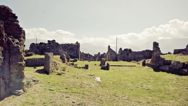 Abandoned Acient Rome Ancient Ancient Civilization Archaeology Architecture Bad Condition Beauty In Nature Built Structure Cloud - Sky Damaged Day Grass History Landscape Nature No People Old Ruin Outdoors Sky The Past Travel Destinations