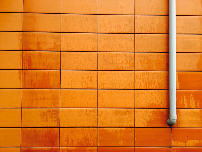 Backgrounds Brick Wall Brown Close-up Detail Full Frame Modern No People Pattern Pipe - Tube Repetition Wall - Building Feature