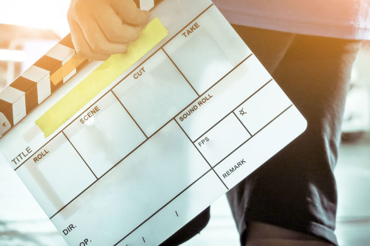 Film Slate, close up image of film production crew holding Film Slate on set Behind The Scenes Filming Studio Behindthescenes Broadcast Broadcasting Cinema Clapper Clapper Board Clapperboard Equipment Film Industry Film Slate Filming Location Photography Themes Studio Photography Studio Shot