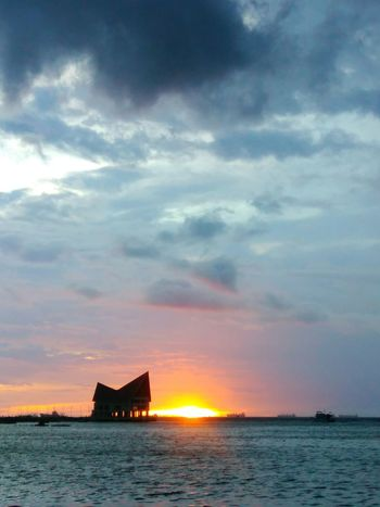 Sunset Happy Colorful Si Racha Orange Color Thailand Cloud Sea View Clouds And Sky Raining Cloud Weather Landscape Chon Buri Nature Day Scenics Rest Sky Air Cloudy