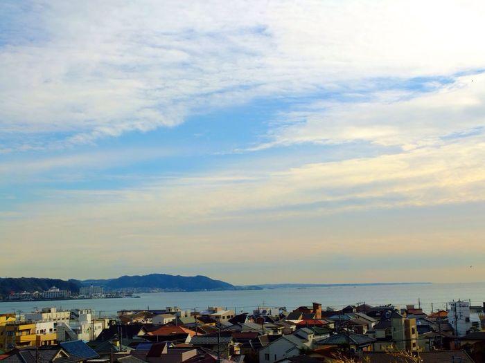 今日の空 / today's sky #sky #landscape 祖母の墓参りでいざ鎌倉へ。Visited my granma's grave at Kamakura.