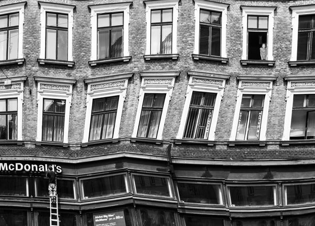 Art Creative Creative Photography Experimental Fine Art Fine Art Photography Ladder Prague Skew Street Street Photography Window Woman