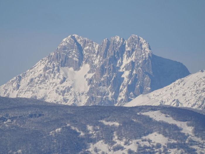 Il Corno Grande Abruzzo Abruzzo - Italy Corno Grande Passione_fotografica Scatti_italiani Paesaggio Montagna Innevata EyeEm Gallery Mountain Winter Snowcapped Mountain Clear Sky Sky Landscape