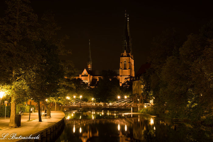City Historical Building Night Lights Nightphotography Sweden Travel Photography Uppsala Uppsala Domkyrka Uppsala, Sweden Europe From An Airplane Window Landscape Light And Shadow Nightscape No People Old Buildings Outdoors