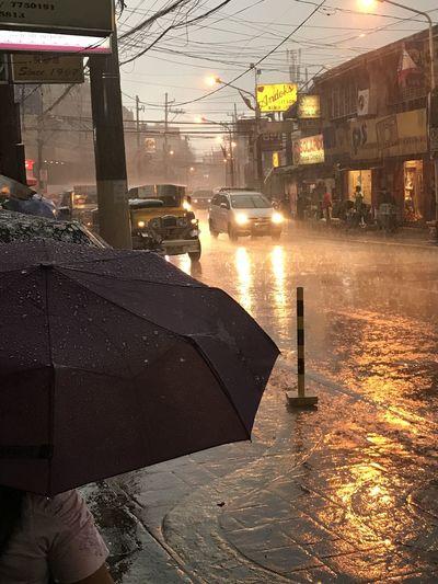EyeEmNewHere, Waiting at the sidewalk while raining Rain Wet Rainy Season Weather Torrential Rain Water City RainDrop Thunderstorm Outdoors First Eyeem Photo