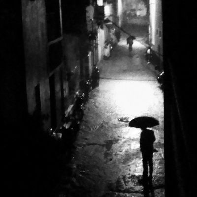 Rainy night Alone