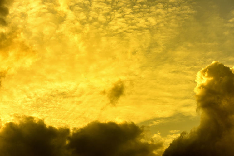 Low angle view of yellow sky during sunset