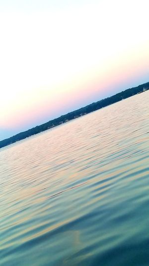 On the water,