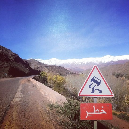 Atlas Mountains - Driving through Morocco - 2014. Morocco Atlas Mountains Winter Driving Africa Hiking Road Solotravelling Keepexploring Travel Backpacking Beautifulroads Highway Mountainroads