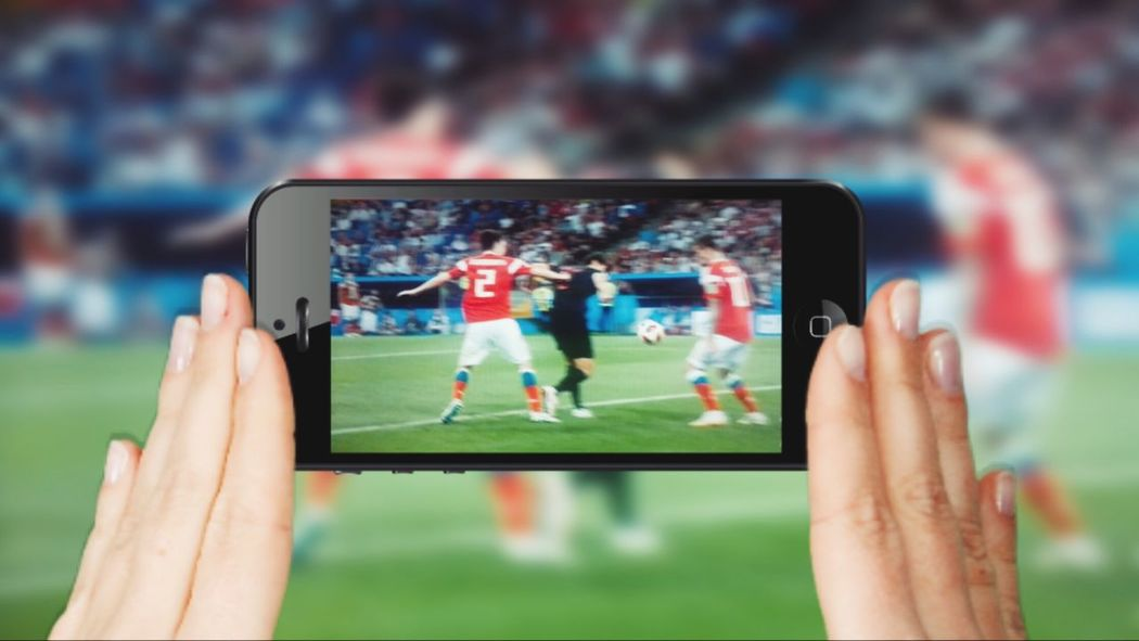 Wireless Technology Technology Communication Portable Information Device Human Hand Connection Smart Phone Sport Digital Tablet Mobile Phone Soccer Fans Soccer Player Streaming Wirless Soccer Tecnology ı Can't Live Without Using Mobile World Cup 2018 Ondemand
