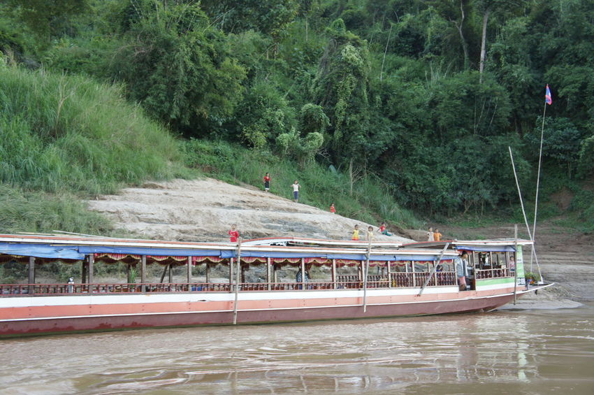 Beauty In Nature Bridge - Man Made Structure Day Growth Large Group Of People Mekong Mekong River Men Mode Of Transport Nature Nautical Vessel Outdoors People Real People River River Cruise River View Riverscape Riverside Transportation Tree Water