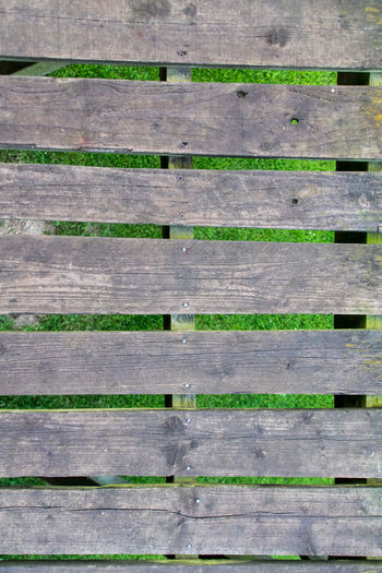 Wooden slats over grass Wood Wooden Slats Absence Architecture Backgrounds Boardwalk Built Structure Close-up Day Directly Above Full Frame Green Color In A Row Nature No People Order Outdoors Pattern Plank Repetition Slats Wood Wood - Material Wood Grain Wood Slats