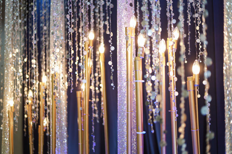 Illuminated No People Lighting Equipment Indoors  Hanging Close-up Selective Focus Decoration Shiny Crystal Backgrounds Glowing Large Group Of Objects Light - Natural Phenomenon Light Full Frame Electric Light Night Pattern Luxury Ornate