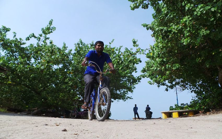 My Bicycle Traveling On The Road Maldives