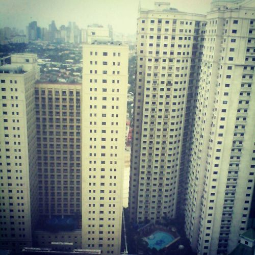 A View from 32nd floor yesterday. Parkview Eastwood