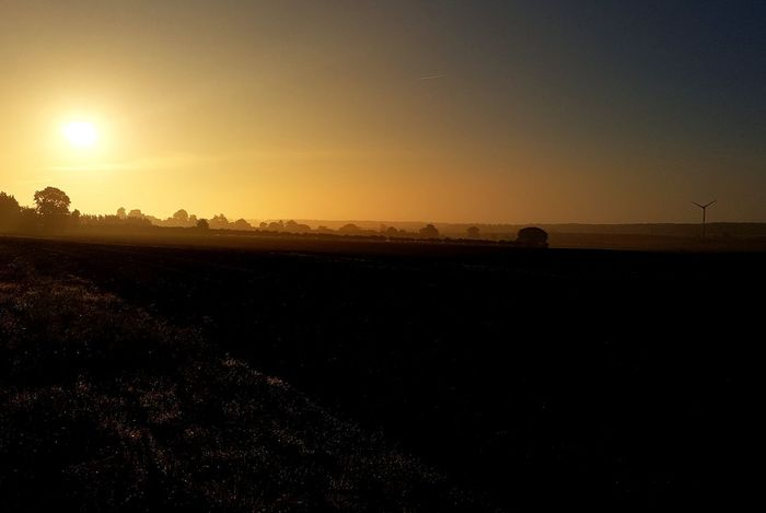 Beauty In Nature Tranquil Scene Landscape Sky Sunrise_Collection Sunrise on an autumn morning