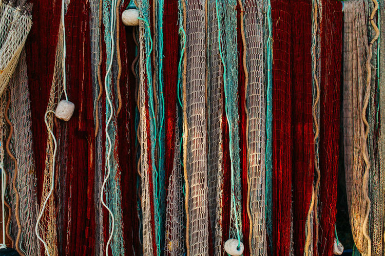 fishing net Adriatic Sea Backgrounds Close-up Colorsplash Fishing Fishing Net Fishing Time Full Frame Hanging Mediterranean  Net No People Outdoors Pattern Seaside Stripes Pattern TeamCanon Texture Textured  Textures And Surfaces Web