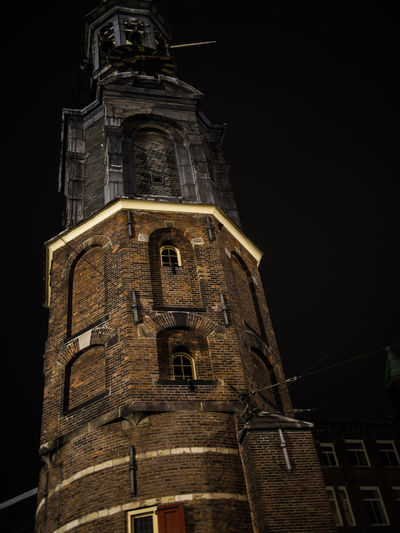 Low Angle View Architecture Built Structure Building Exterior Night Building Belief Religion Place Of Worship Tower Spirituality The Past History No People Sky Old Nature Tall - High Spire