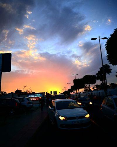 Car Cloud - Sky Travel Sunset Sky City No People Outdoors Night