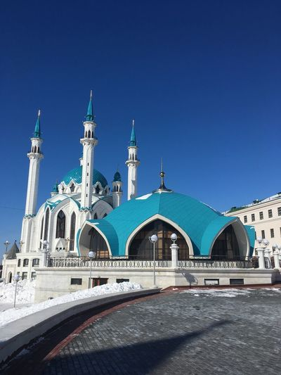 Kazan Russian Federation Kazan Mosque Architecture Mosque EyeEm Selects Built Structure Architecture Sky Building Exterior Clear Sky Nature Transportation Building Travel Destinations Place Of Worship Blue Religion Travel Belief Tourism Day City Sunlight Spirituality No People EyeEmNewHere The Traveler - 2018 EyeEm Awards My Best Photo