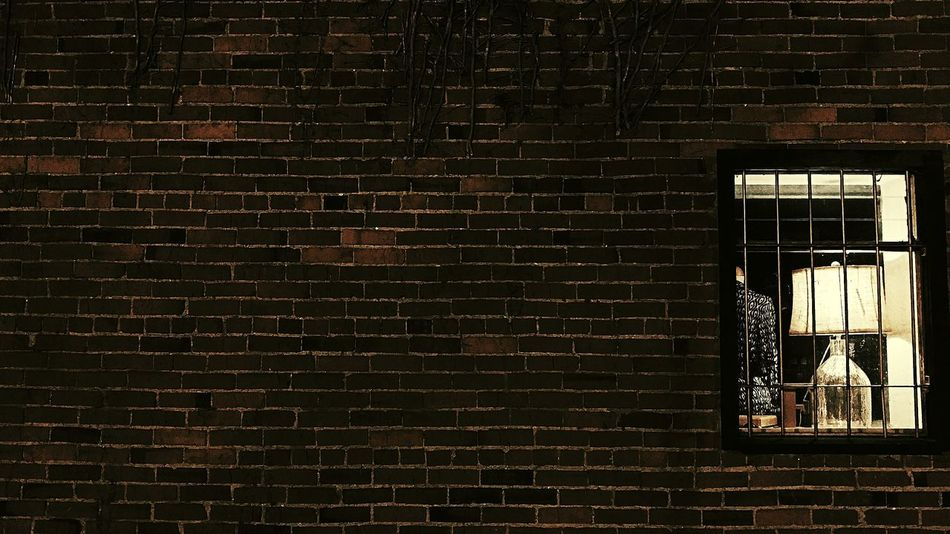 Brick Wall Built Structure Architecture No People Pattern Textured  Window Display Lamp Brick Building Brickporn Backgrounds Night Photography Urban Exploration EyeEm Best Shots City Outdoors Nightlife Urbanexplorer Branches And Shadow Ivy On Brick Illuminated Looking For Inspiration The Week On EyeEm Vintage Lights Night Welcome To Black Welcome To Black Break The Mold