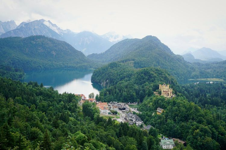 Scenic view of hohenschwangau castle