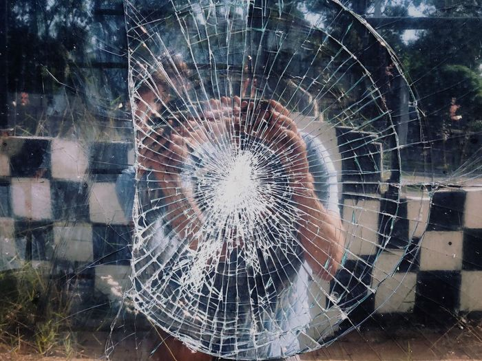 Glass - Material Window Transparent Shattered Glass Close-up No People Damaged The Street Photographer - 2018 EyeEm Awards