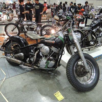 Yokohama hotrod custom show 2013 Hcs2013 Harley Davidson Panhead Bobber