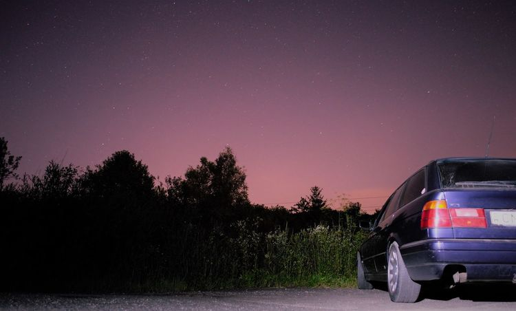 Car Clear Sky Galaxy Nature Night No People Sky Space Star - Space