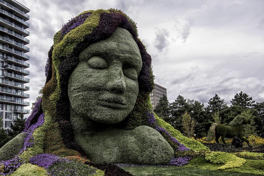 Canada150 Gaia Gatineau Ontario Ottawa Quebec Canada Earth Goddess Flowers Mosiac Mother Earth