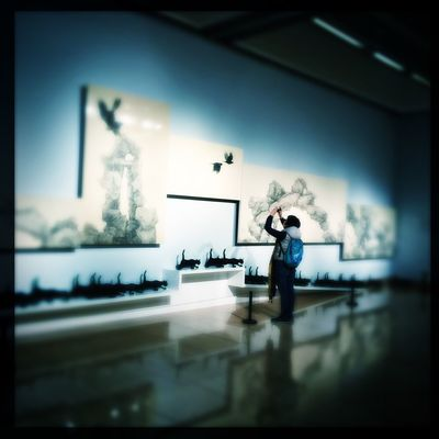Art Chinese Painting People Watching