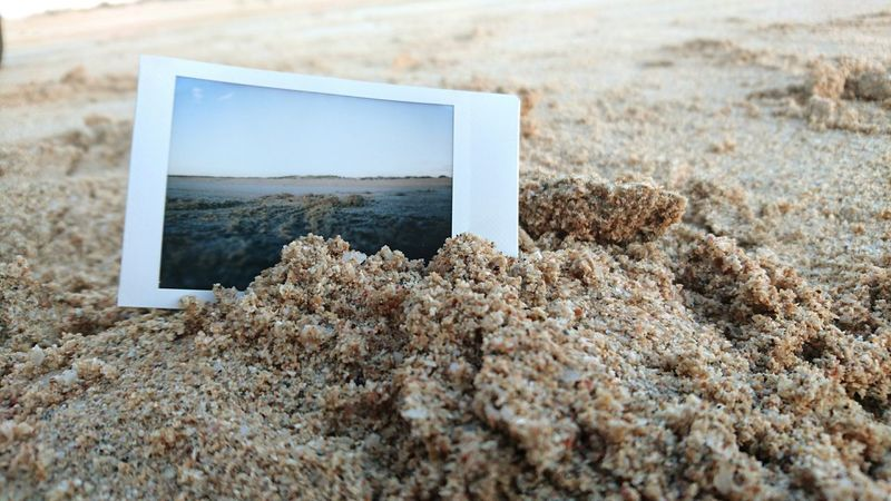 Polaroid Art Polaroid Pictures Sand Nature Beach Close-up No People Day Outdoors Polaroid Connected By Travel
