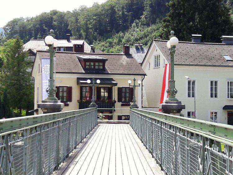 Enjoying Life Outdoors Badischl Austria Building Mountain River Bridge Architecture